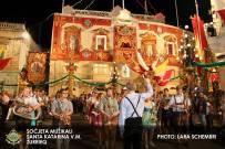 Das zum Santa Katarina Festival bunt geschmückte Probelokal des Partnerorchesters