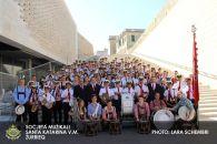 Gemeinsames Gruppenfoto in der Altstadt von Valletta