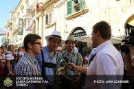 Interview für das Maltesische Fernsehen