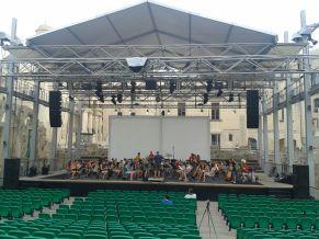 Vorprobe in der Alten Oper von Valletta