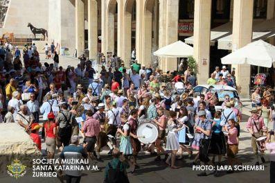 Marschmusik in Valletta