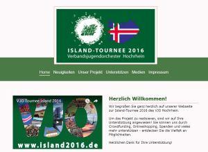 Webseite Island